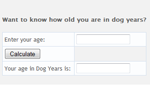 Dog Years Calculator