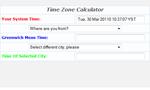 Time Zone Calculator