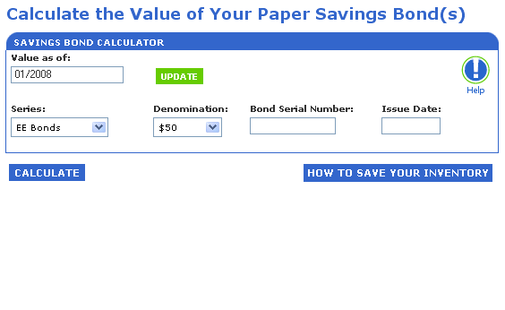 Savings Bond Calculator